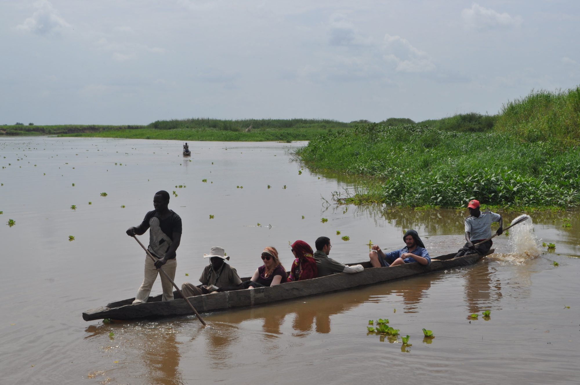 Students on Canoe Safari, Kilombero