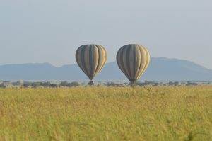 Balloons over Serengeti National Park